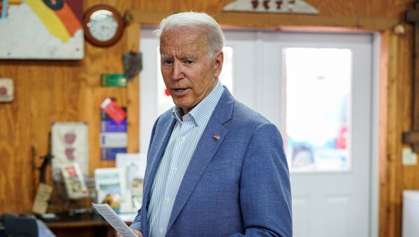 U.S. President Joe Biden speaks to the media at King Orchards in Central Lake, Michigan, U.S., July 3, 2021. - Sputnik International