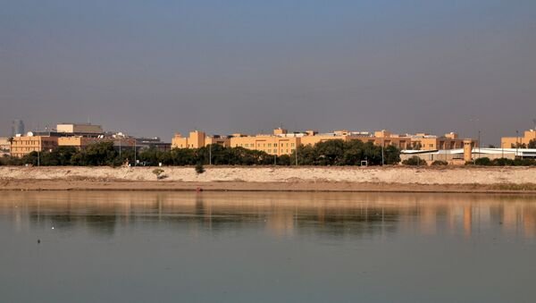 In this Jan. 3, 2020 file photo, the U.S. Embassy is seen from across the Tigris River in Baghdad, Iraq. - Sputnik International