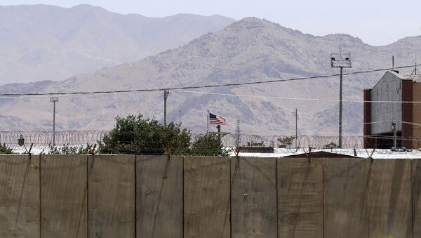 The flag of the United States flies over Bagram Air Base, in Afghanistan, Friday, June 25, 2021. - Sputnik International