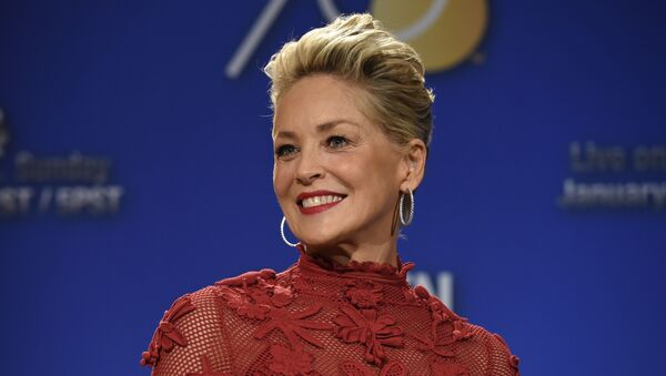 Sharon Stone poses during the nominations for the 75th Annual Golden Globe Awards on Dec. 11, 2017, in Beverly Hills, Calif - Sputnik International