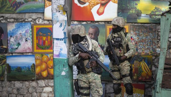 Soldiers patrol in Petion Ville, the neighborhood where the late Haitian President Jovenel Moise lived in Port-au-Prince, Haiti, Wednesday, July 7, 2021. - Sputnik International