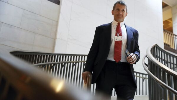 In this Nov. 30, 2017 file photo, Blackwater founder Erik Prince arrives for a closed meeting with members of the House Intelligence Committee on Capitol Hill in Washington. - Sputnik International