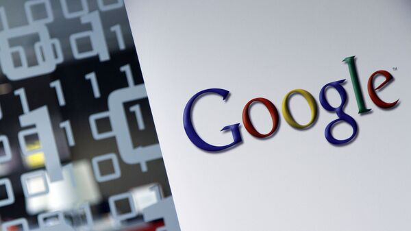 In this March 23, 2010, file photo, the Google logo is seen at the Google headquarters in Brussels. Germany's finance minister on Wednesday welcomed an agreement requiring large companies in the European Union to reveal how much tax they paid in which country. - Sputnik International