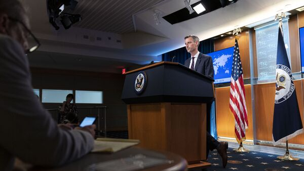State Department spokesperson Ned Price speaks during a media briefing at the State Department, Wednesday, July 7, 2021, in Washington. - Sputnik International