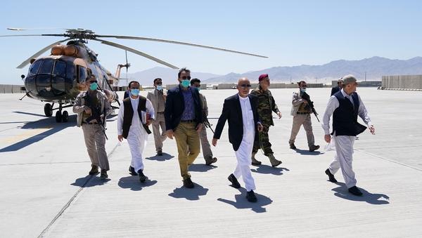 Afghan President Ashraf Ghani and others visit Bagram Airbase, 9 July, 2021. - Sputnik International