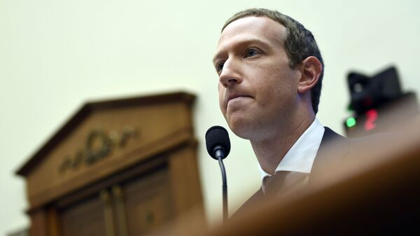 In this Oct. 23, 2019, file photo, Facebook Chief Executive Officer Mark Zuckerberg testifies before the House Financial Services Committee on Capitol Hill in Washington.  Facebook's quasi-independent oversight board last week said the company was justified in suspending Trump because of his role in inciting deadly violence at the U.S. Capitol on Jan. 6, 2021 - Sputnik International