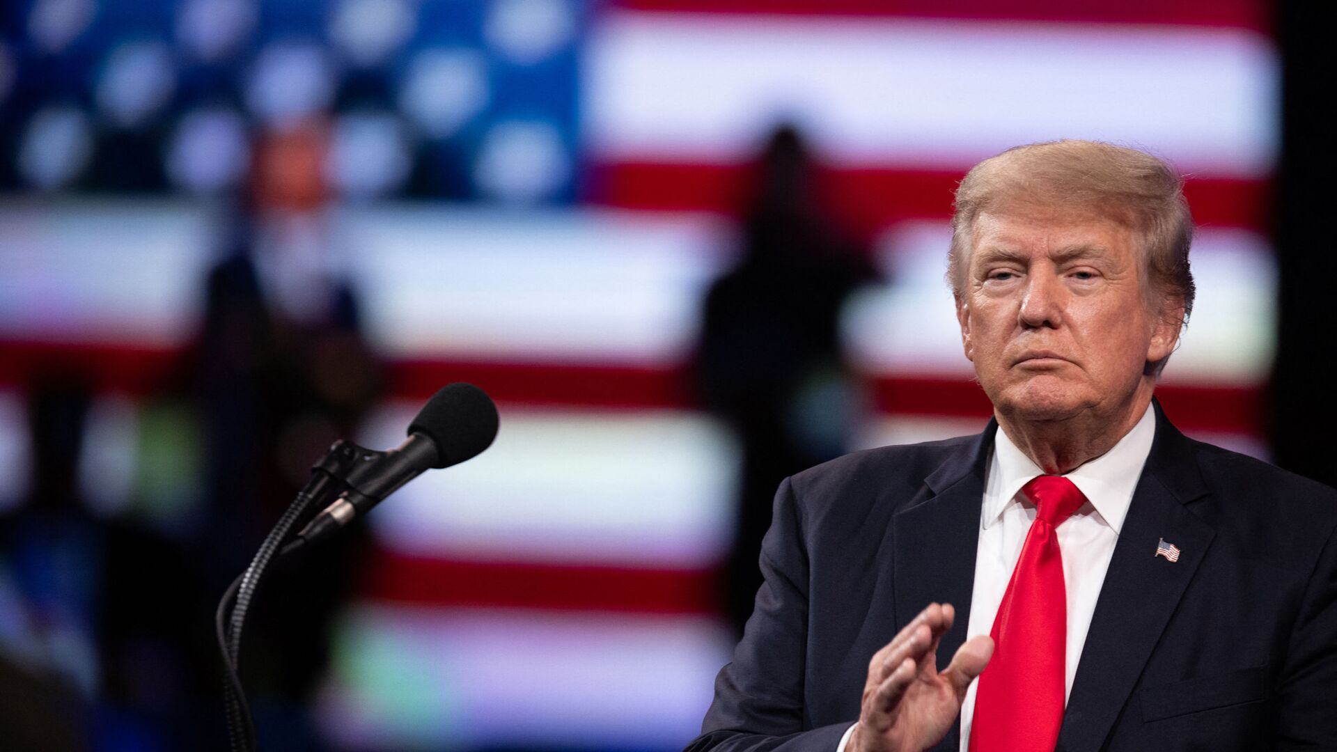 Former US President Donald Trump speaks at the Conservative Political Action Conference (CPAC) in Dallas, Texas on July 11, 2021 - Sputnik International, 1920, 04.08.2021