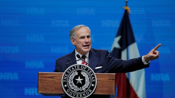 Texas Governor Greg Abbott speaks at the annual National Rifle Association (NRA) convention in Dallas, Texas, U.S., May 4, 2018 - Sputnik International