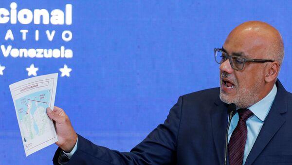 Jorge Rodriguez, head of Venezuela's National Assembly, speaks during a news conference in Caracas, Venezuela July 13, 2021 - Sputnik International