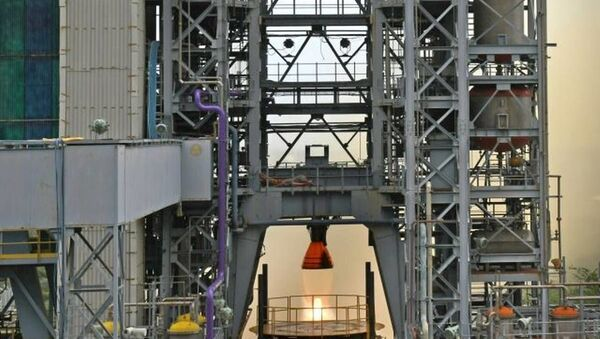 ISRO successfully conducted the hot test of the liquid propellant Vikas Engine for the core L110 liquid stage of the human-rated GSLV MkIII vehicle, as part of engine qualification requirements for the Gaganyaan programme - Sputnik International