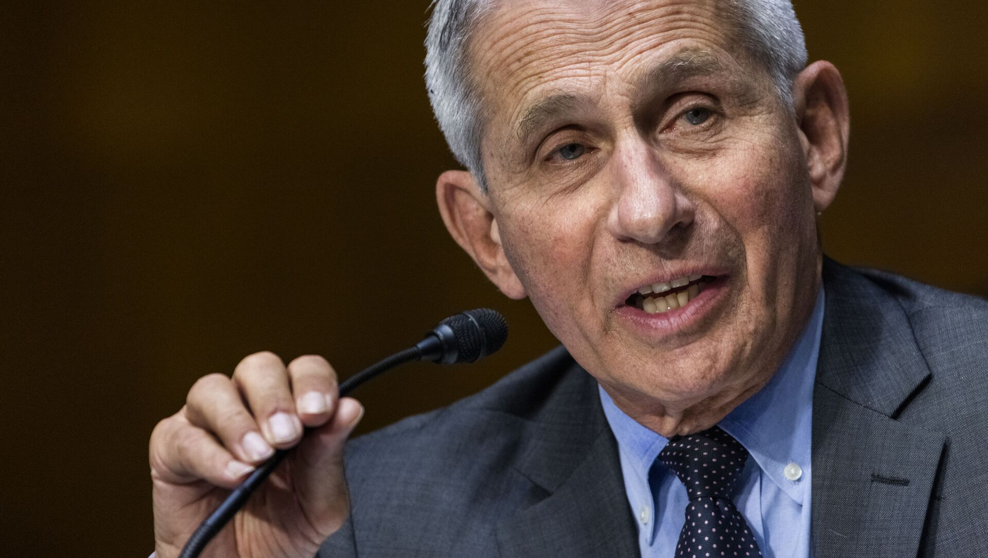 In this May 11, 2021, file photo, Dr. Anthony Fauci, director of the National Institute of Allergy and Infectious Diseases, speaks during hearing on Capitol Hill in Washington - Sputnik International, 1920, 26.08.2021