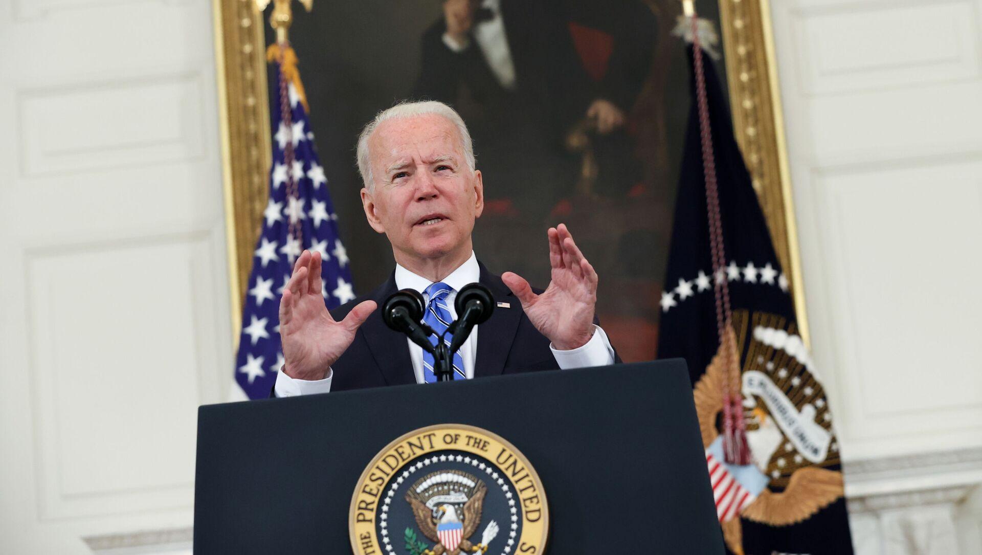 U.S. President Biden delivers remarks on the economy at the White House in Washington - Sputnik International, 1920, 28.07.2021