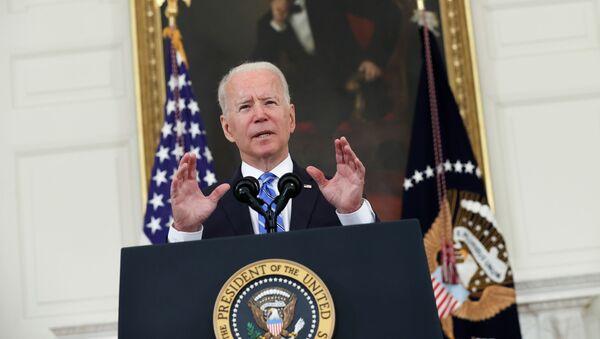 U.S. President Biden delivers remarks on the economy at the White House in Washington - Sputnik International
