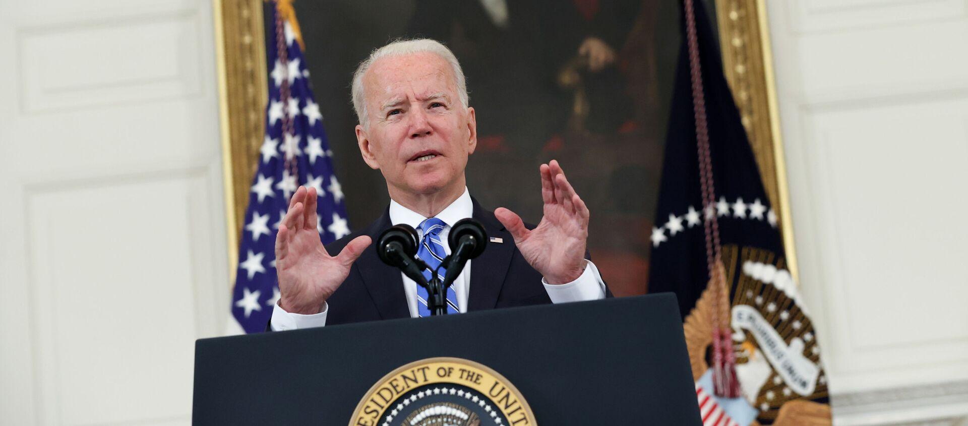 U.S. President Biden delivers remarks on the economy at the White House in Washington - Sputnik International, 1920, 19.07.2021