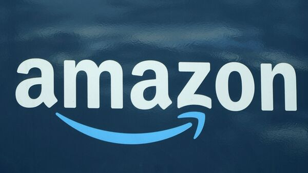An Amazon logo appears on an Amazon delivery van, Thursday, Oct. 1, 2020, in Boston.  - Sputnik International
