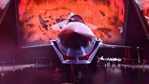 Checkmate fighter jet at Russia's MAKS air show. - Sputnik International