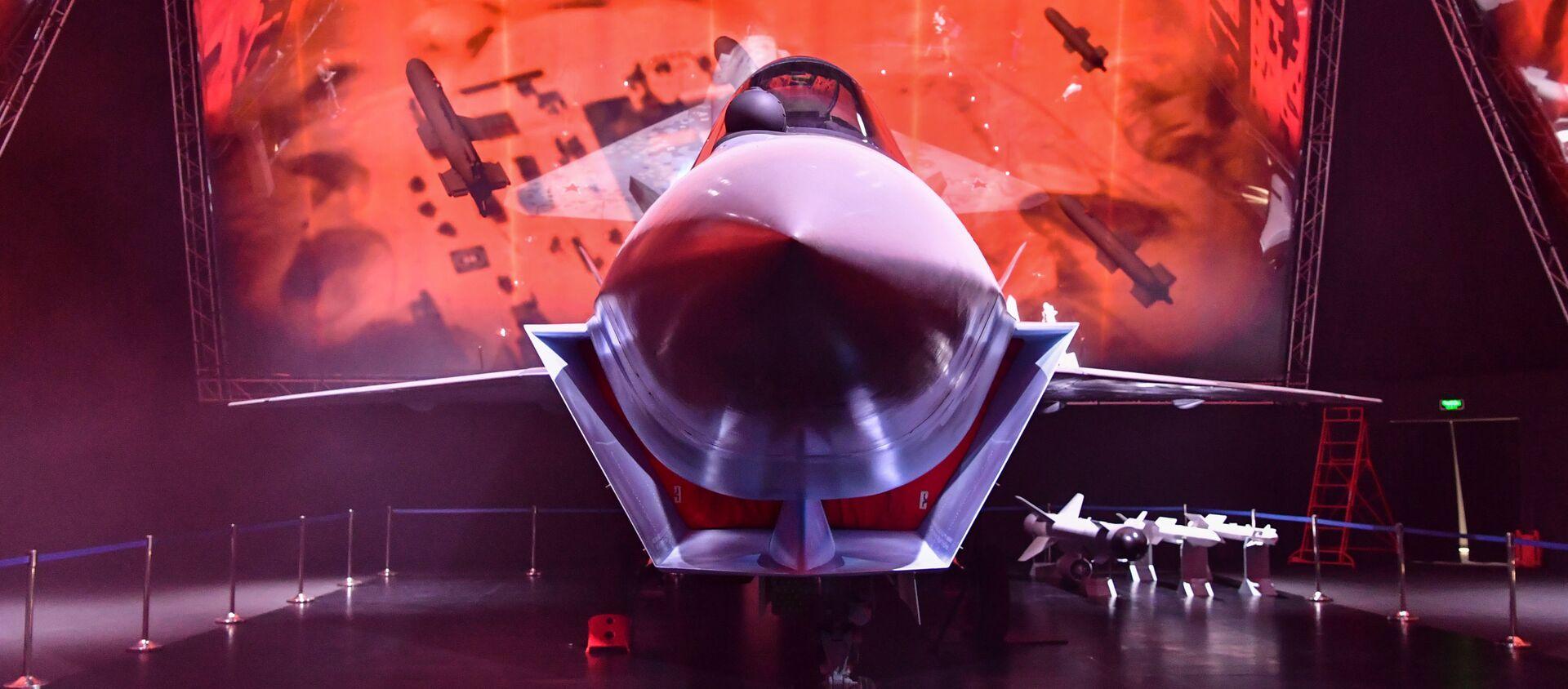 Checkmate fighter jet at Russia's MAKS air show. - Sputnik International, 1920, 21.07.2021