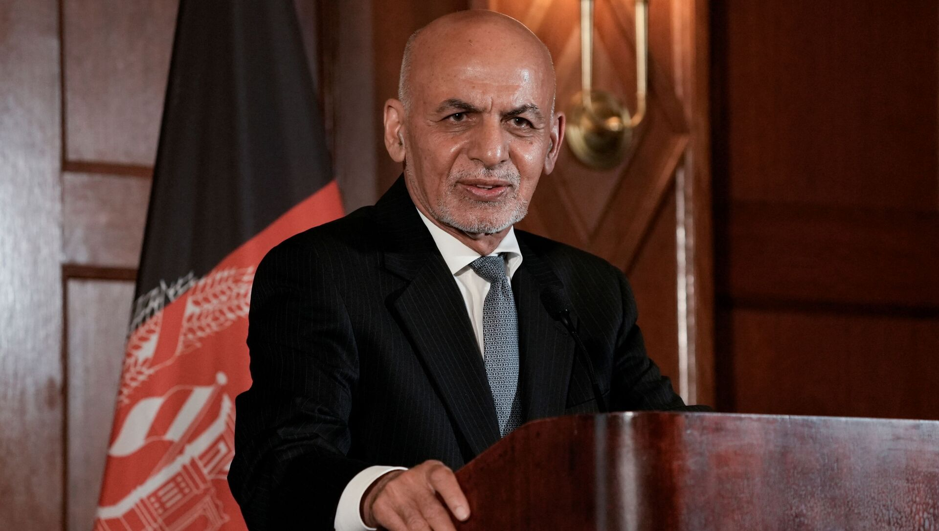 Afghanistan's President Ashraf Ghani speaks during a news conference following his meeting with U.S. President Joe Biden, at the Willard Hotel in Washington, D.C., U.S., June 25, 2021 - Sputnik International, 1920, 04.08.2021
