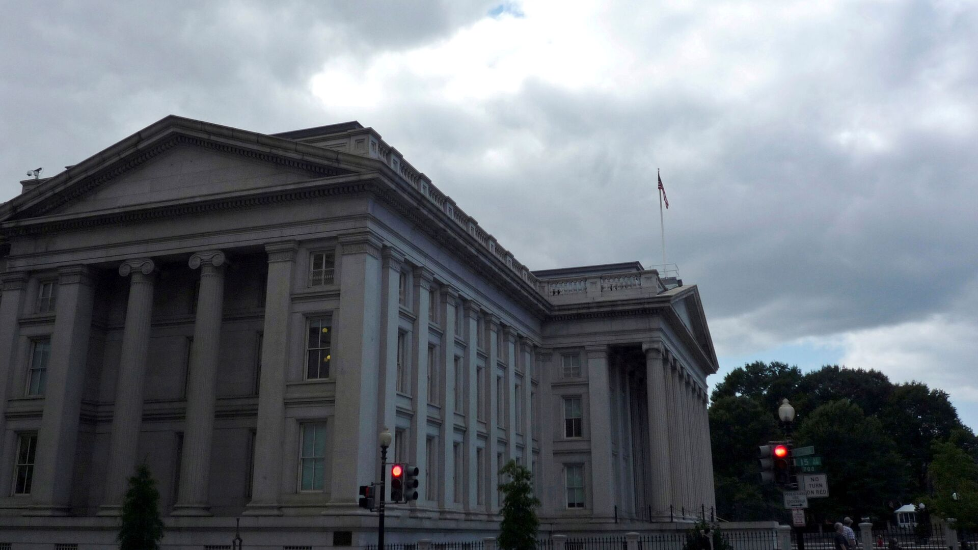 The U.S. Treasury building is seen in Washington, September 29, 2008.  - Sputnik International, 1920, 28.07.2021