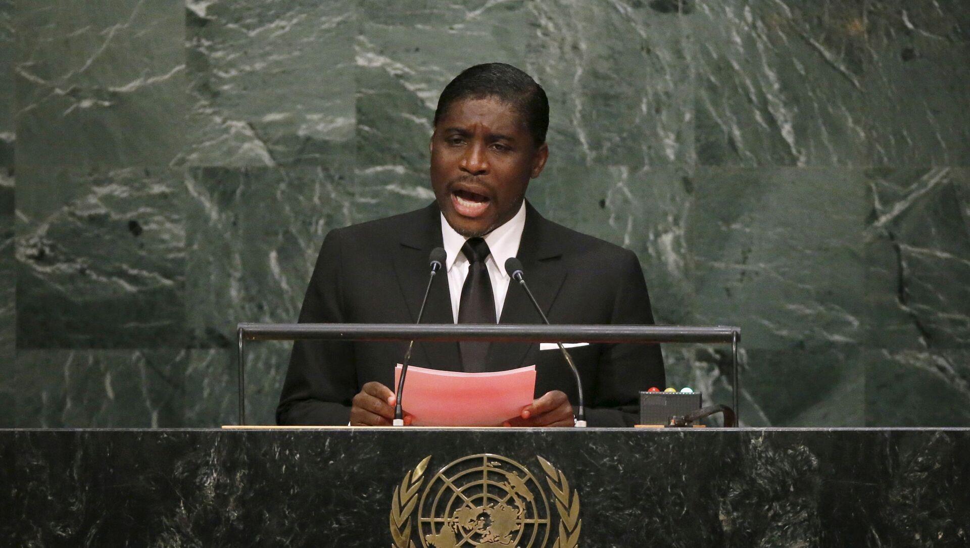 Equatorial Guinea's Second Vice-President Teodoro Nguema Obiang Mangue addresses the UN - Sputnik International, 1920, 26.07.2021