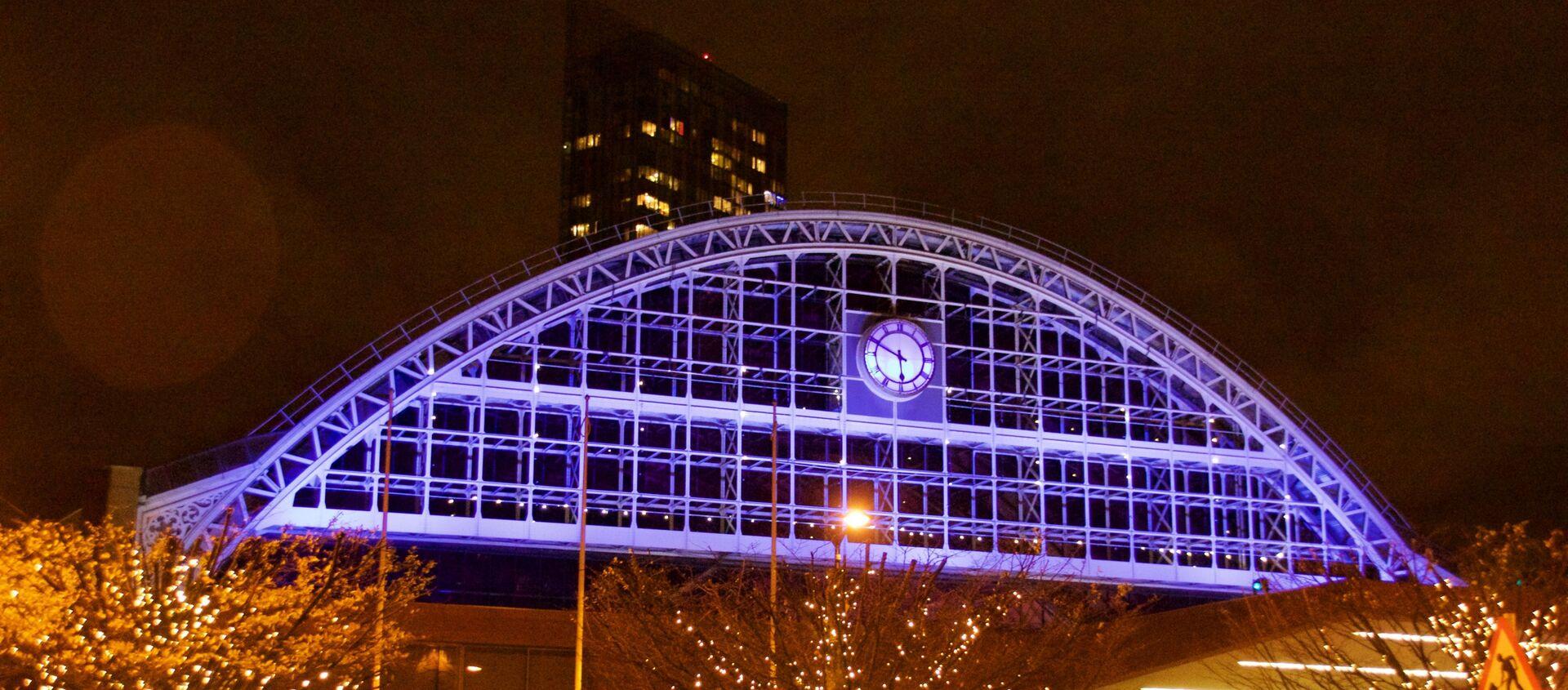 Manchester Central conference centre illuminated in December 2015. Manchester, UK - Sputnik International, 1920, 22.07.2021