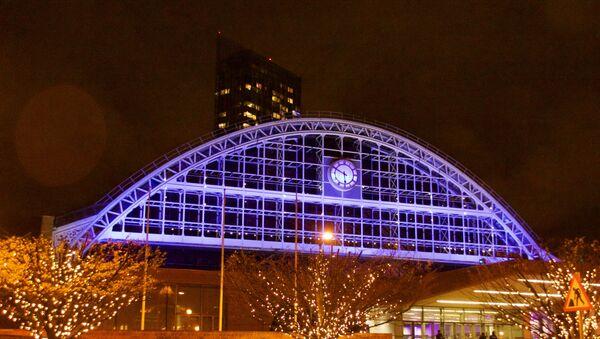 Manchester Central conference centre illuminated in December 2015. Manchester, UK - Sputnik International