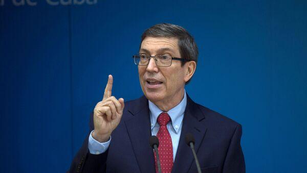 Cuba's Foreign Minister Bruno Rodriguez Parilla speaks during a news conference in Havana, Cuba, July 13, 2021. - Sputnik International