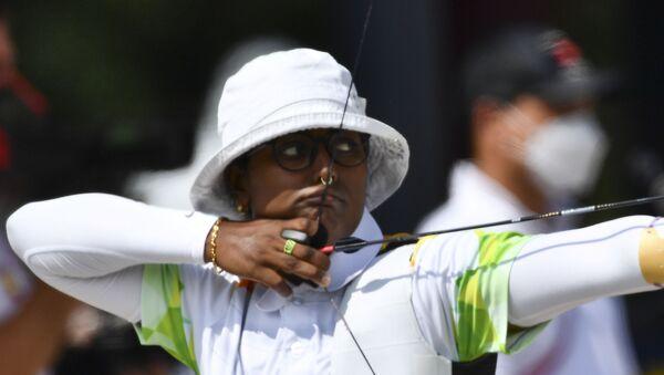 Tokyo 2020 Olympics - Archery - Women's Individual - Ranking Round - Yumenoshima Archery Field, Tokyo, Japan - July 23, 2021 - Sputnik International