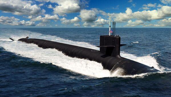 An artist rendering of the future Columbia-class ballistic missile submarines. - Sputnik International