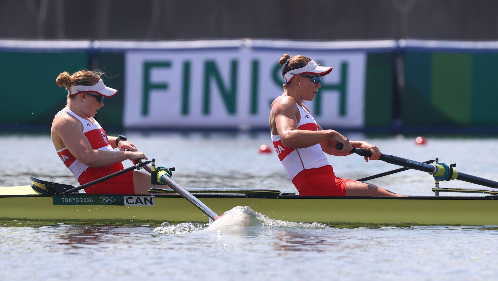 Tokyo 2020 Olympics - Rowing - Women's Pair - Heats - Sea Forest Waterway, Tokyo, Japan - July 24, 2021. - Sputnik International, 1920, 24.07.2021