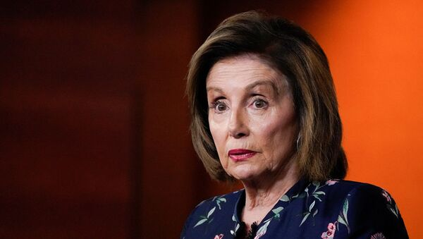 House Speaker Nancy Pelosi, a Democrat representative from California, holds her weekly news conference with Capitol Hill reporters at the Capitol in Washington, US, on 22 July 2021. - Sputnik International