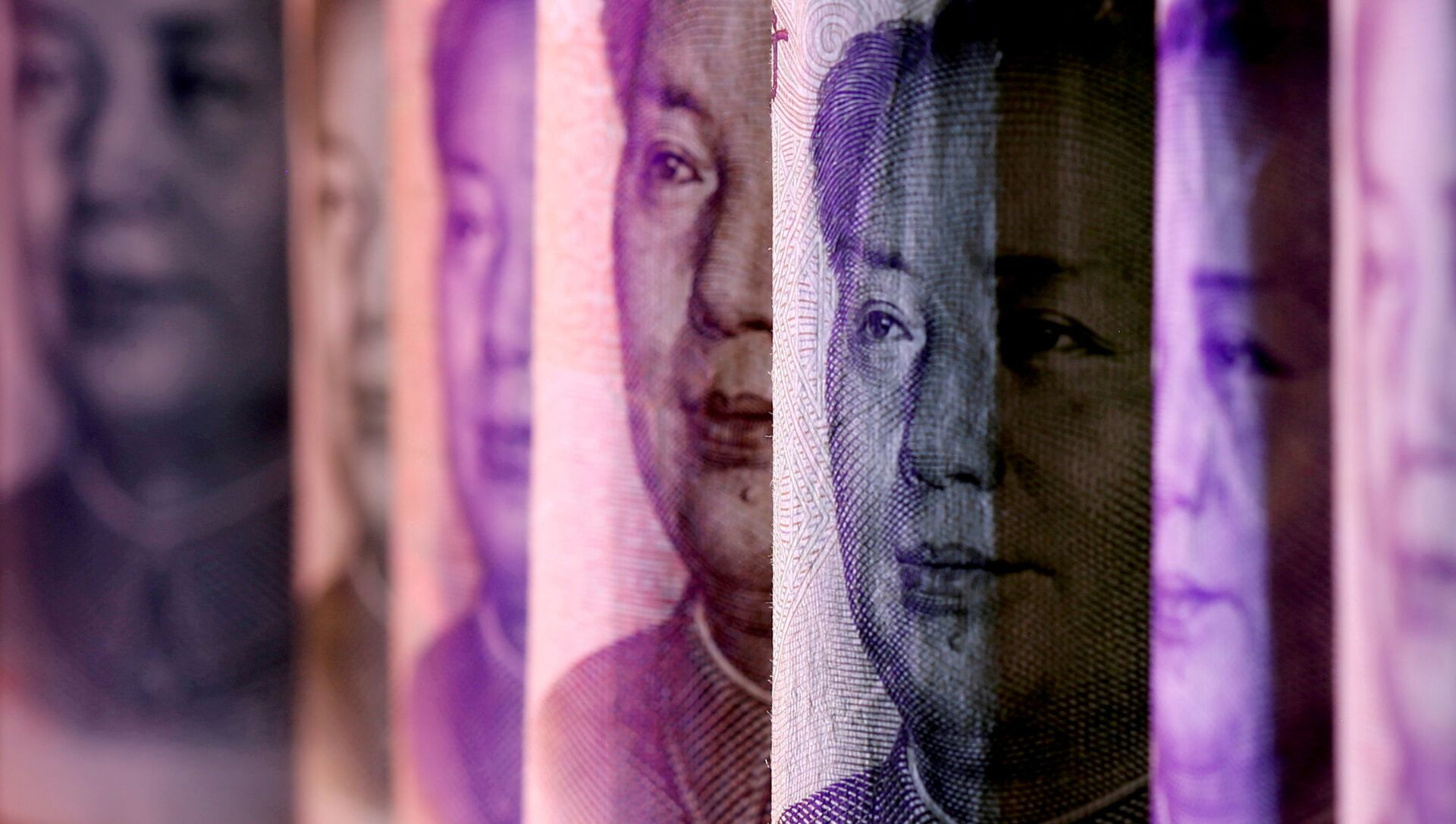 Chinese Yuan banknotes are seen in this illustration taken February 10, 2020. - Sputnik International, 1920, 26.07.2021