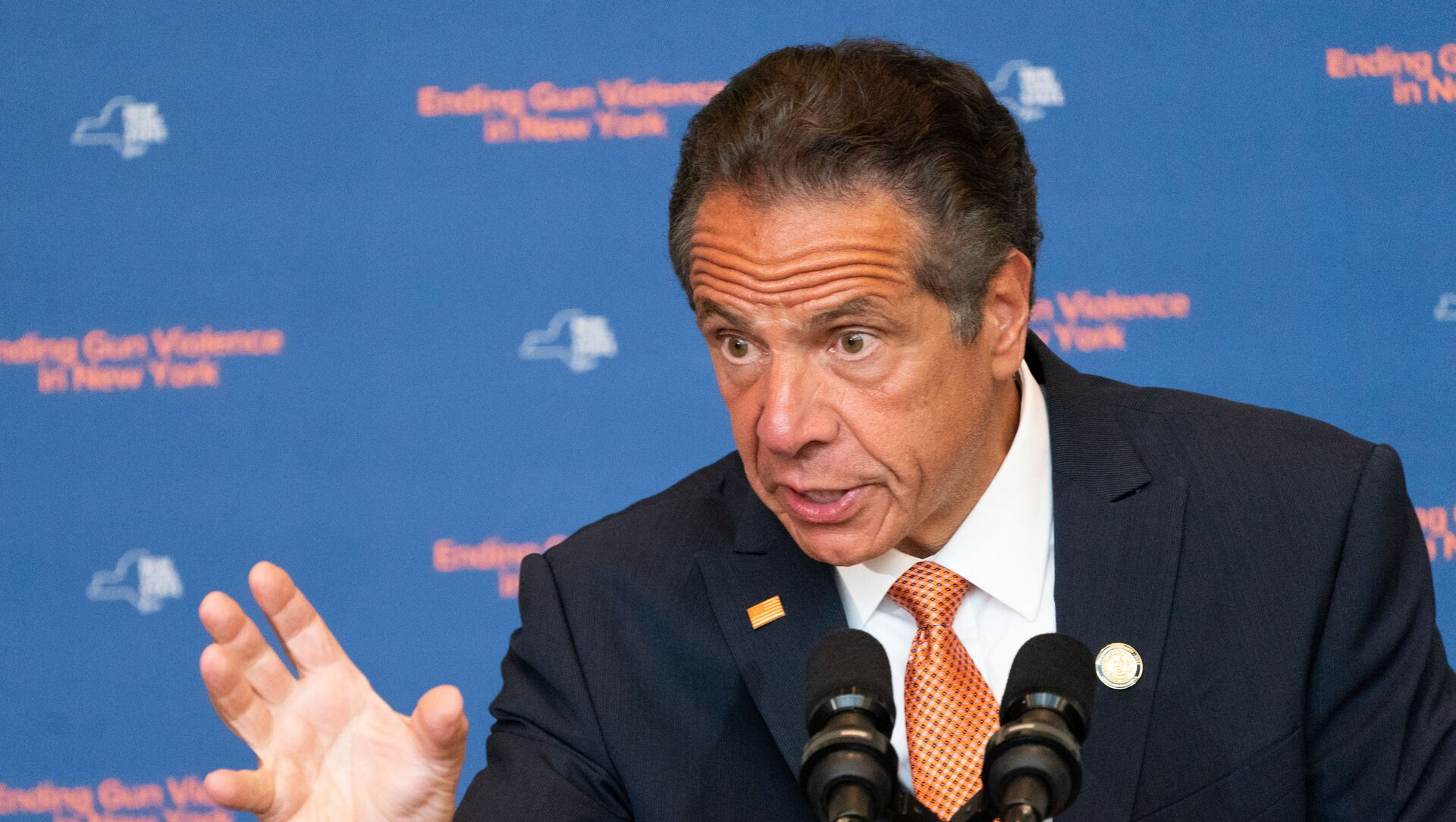 New York Governor Andrew Cuomo speaks during a news conference, to make an announcement that Gun Manufacturers are Liable for the harm their products cause, in New York City, New York, U.S., July 6, 2021 - Sputnik International, 1920, 26.07.2021