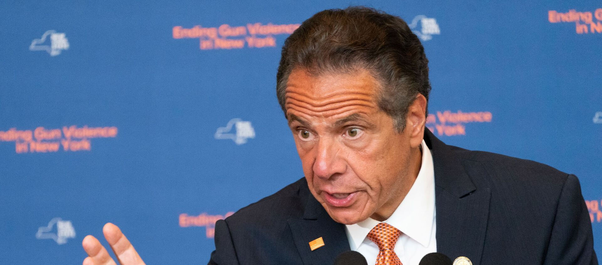 New York Governor Andrew Cuomo speaks during a news conference, to make an announcement that Gun Manufacturers are Liable for the harm their products cause, in New York City, New York, U.S., July 6, 2021 - Sputnik International, 1920, 03.08.2021