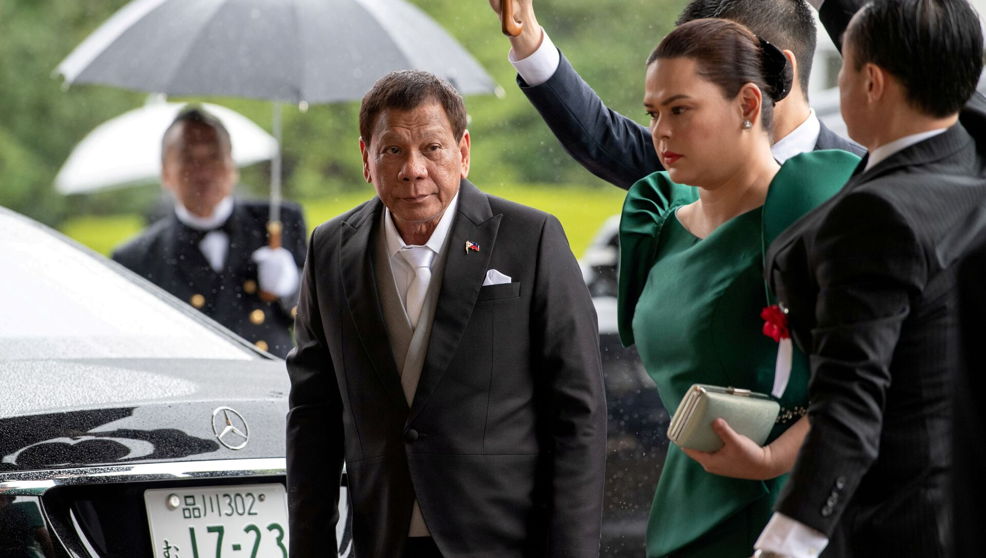 President Rodrigo Duterte and his daughter Sara, known as Inday Sara - Sputnik International, 1920, 27.07.2021