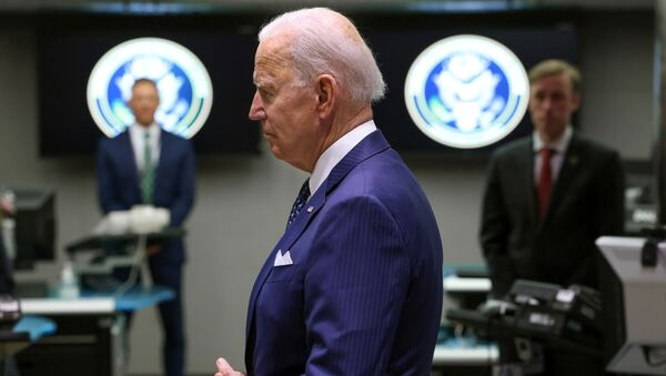 U.S. President Joe Biden tours the National Counterterrorism Center Watch Floor during a visit to the Office of the Director of National Intelligence in nearby McLean, Virginia outside Washington, U.S., July 27, 2021 - Sputnik International