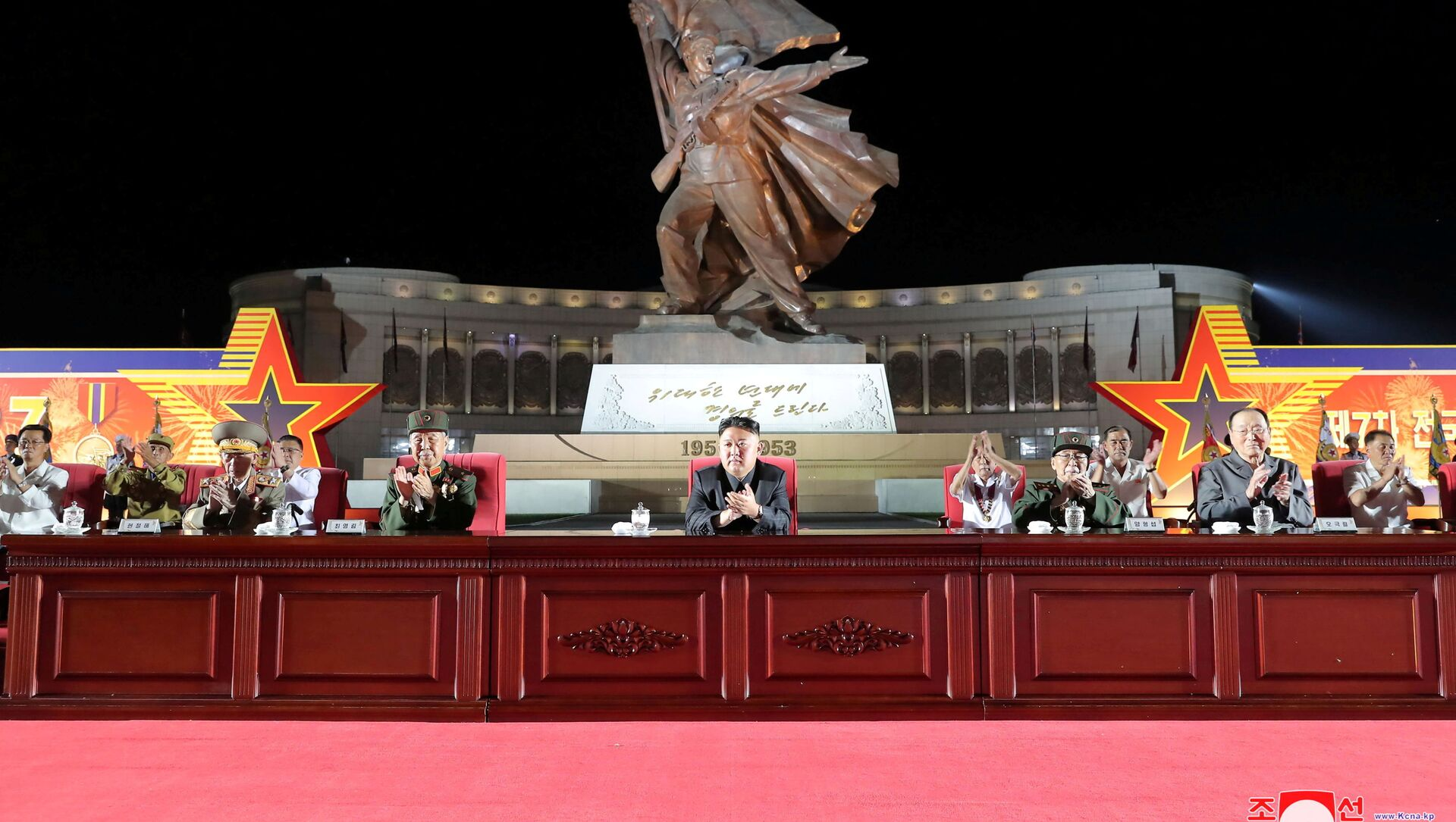 North Korean leader Kim Jong Un attends a ceremony at the Victorious Fatherland Liberation War Museum to mark the 68th anniversary of the Korean armistice in Pyongyang, North Korea, in this photo supplied by North Korea's Korean Central News Agency (KCNA) on July 27, 2021 - Sputnik International, 1920, 28.07.2021