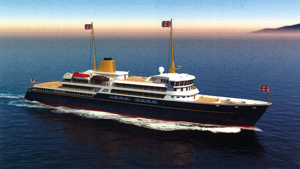 An artist's impression of the new national flagship, the successor to the Royal Yacht Britannia - Sputnik International