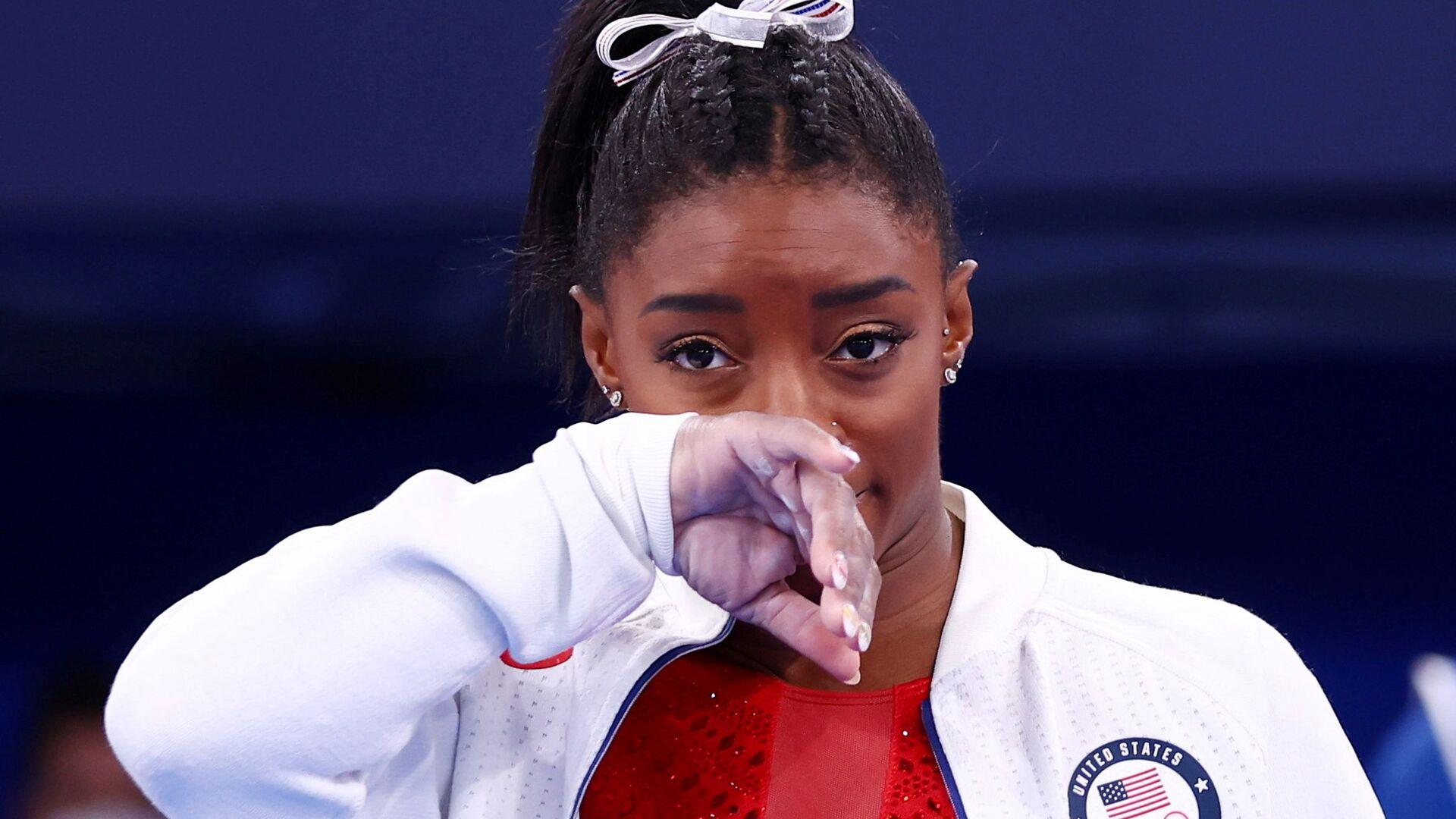 Tokyo 2020 Olympics - Gymnastics - Artistic - Women's Team - Final - Ariake Gymnastics Centre, Tokyo, Japan - July 27, 2021. Simone Biles of the United States during the Women's Team Final  - Sputnik International, 1920, 31.07.2021