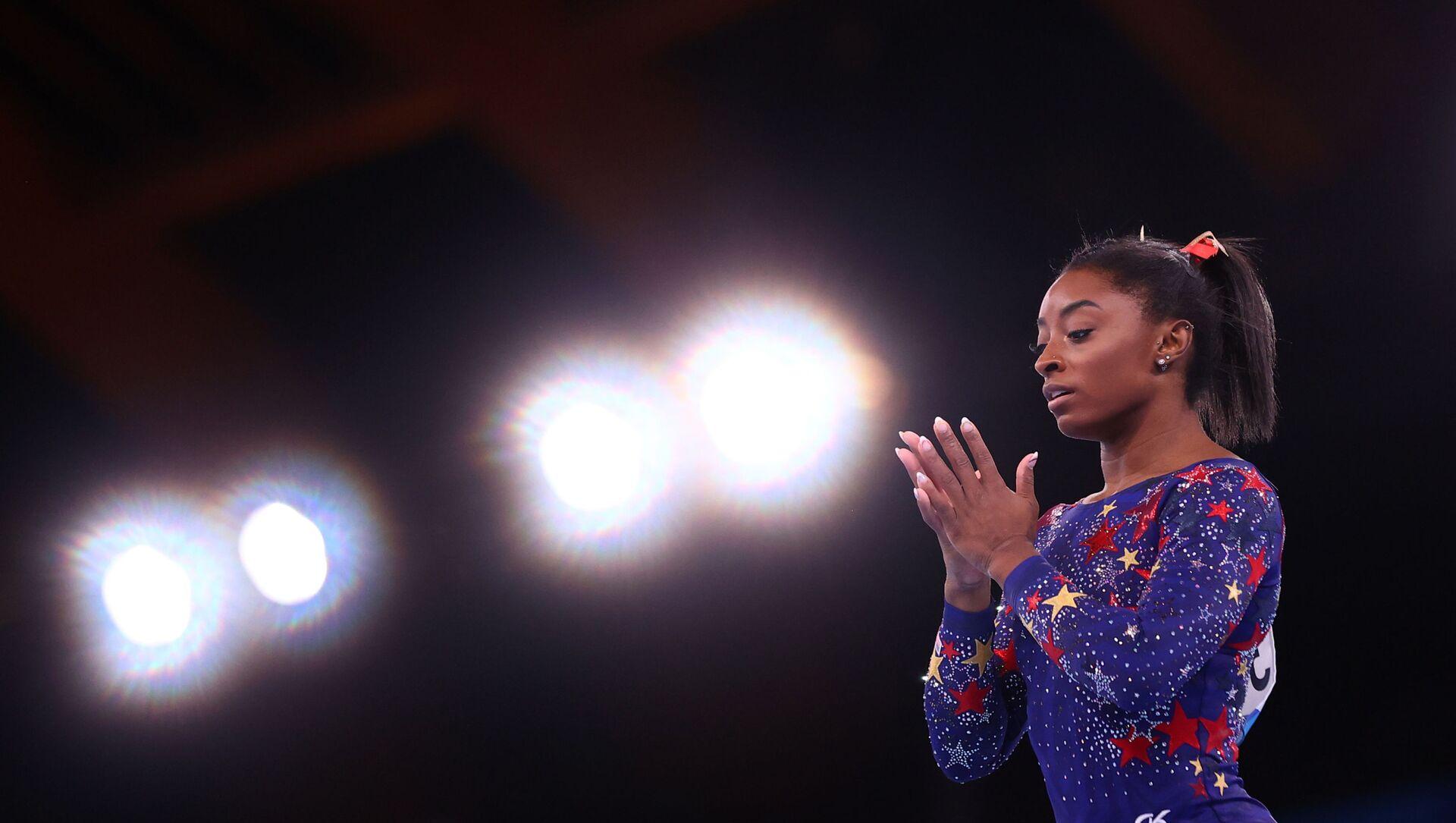 Tokyo 2020 Olympics - Gymnastics - Artistic - Women's Beam - Qualification - Ariake Gymnastics Centre, Tokyo, Japan - July 25, 2021. Simone Biles of the United States in action on the beam. - Sputnik International, 1920, 29.07.2021