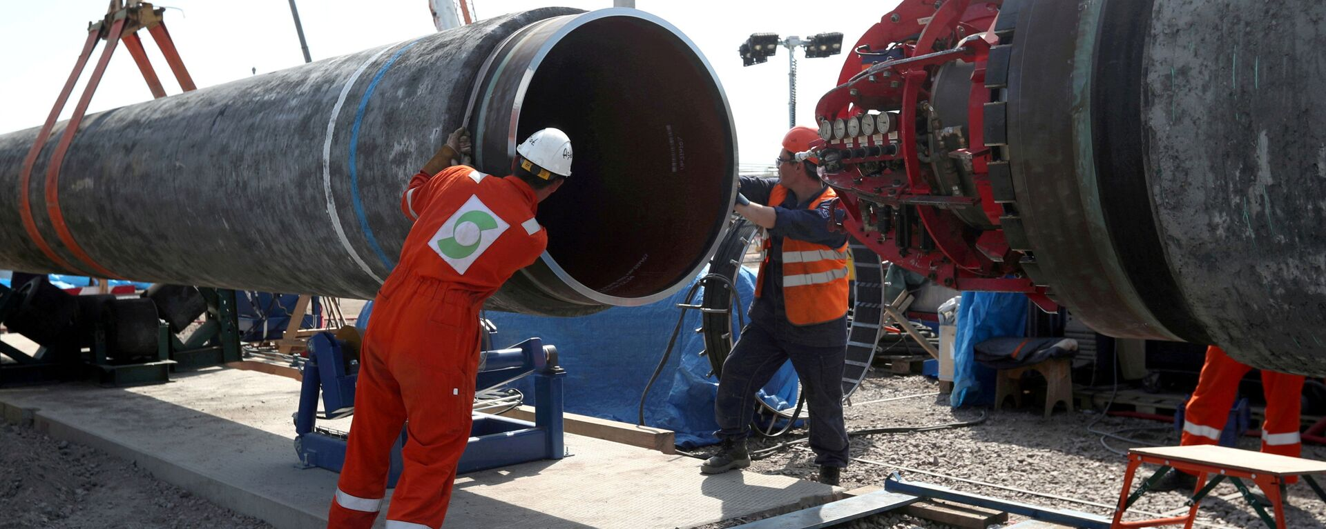 FILE PHOTO: Workers are seen at theconstruction siteof the NordStream2 gas pipeline, near the town of Kingisepp, Leningrad region, Russia, June 5, 2019 - Sputnik International, 1920, 20.08.2021