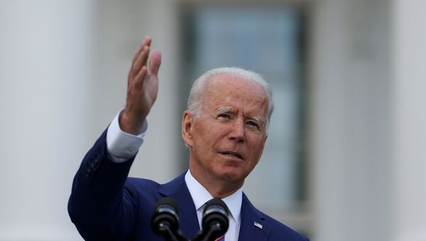 U.S. President Joe Biden delivers remarks at the White House at a celebration of Independence Day in Washington, U.S., July 4, 2021. - Sputnik International