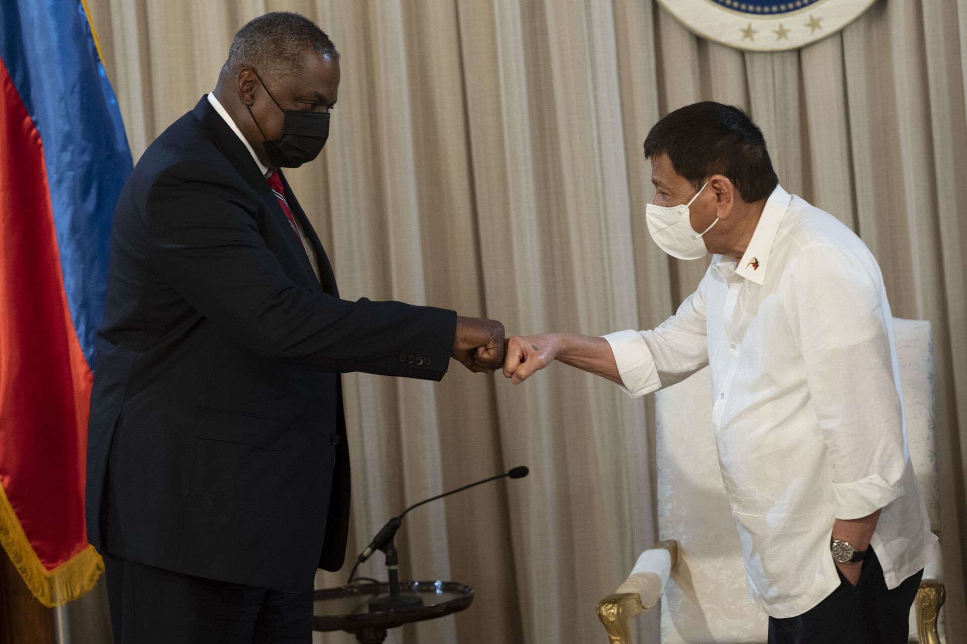Secretary of Defense Lloyd J. Austin III meets with Philippine President Rodrigo Duterte in Manila, July 29, 2021. - Sputnik International, 1920, 07.09.2021