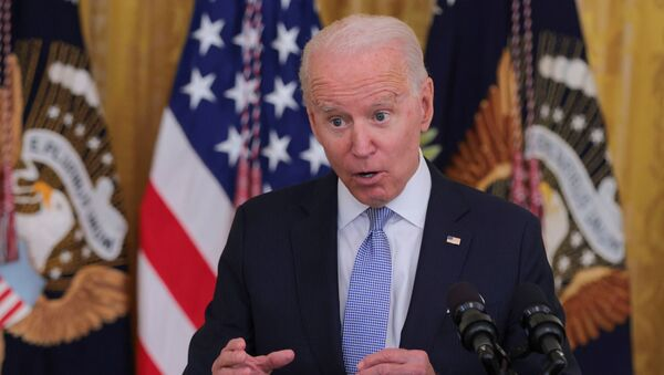 U.S. President Joe Biden answers questions about the pace of coronavirus disease (COVID-19) vaccinations during remarks at the White House in Washington - Sputnik International