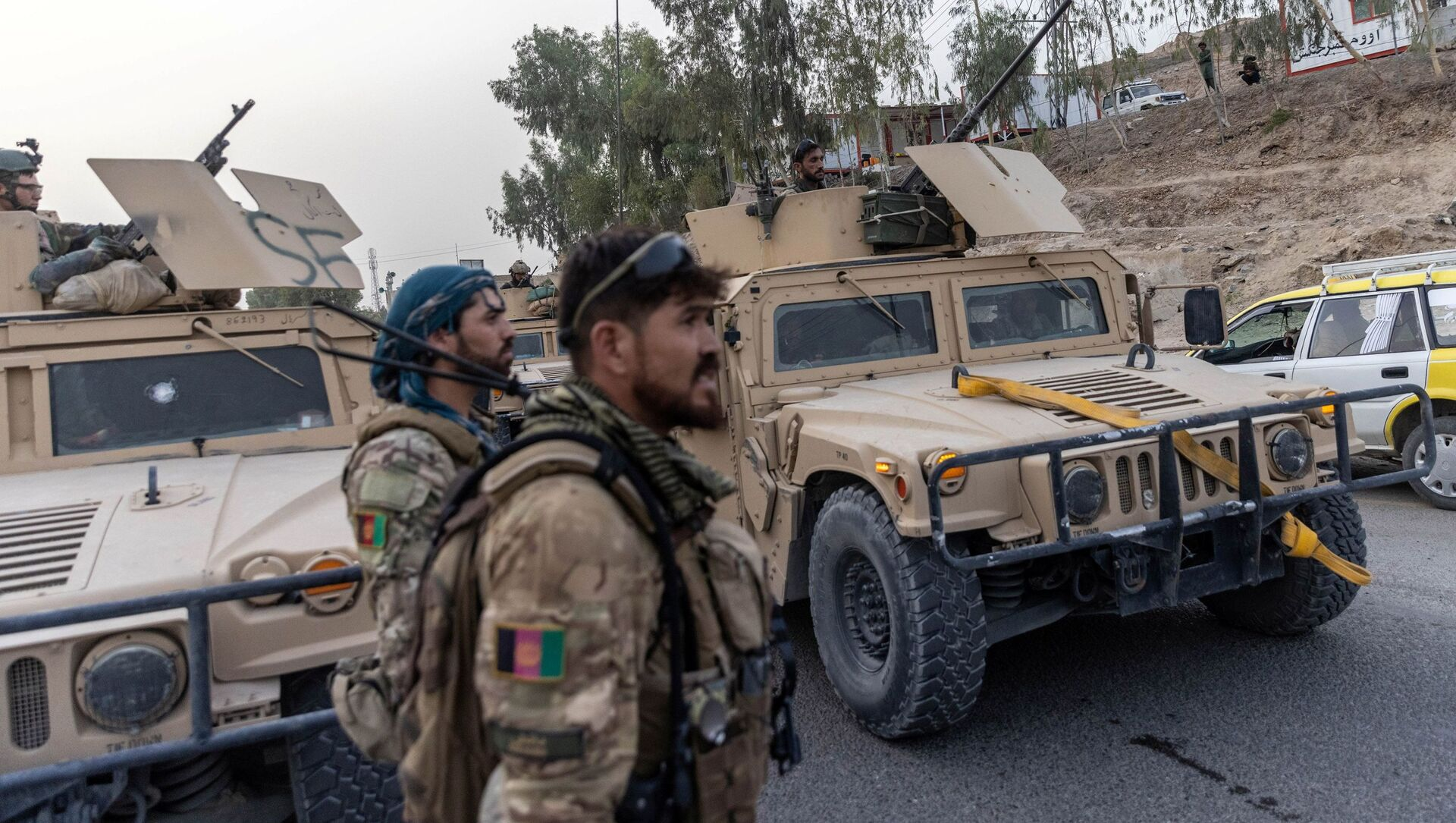 A convoy of Afghan Special Forces is seen during the rescue mission of a policeman besieged at a check post surrounded by Taliban, in Kandahar province, Afghanistan, July 13, 2021 - Sputnik International, 1920, 02.08.2021