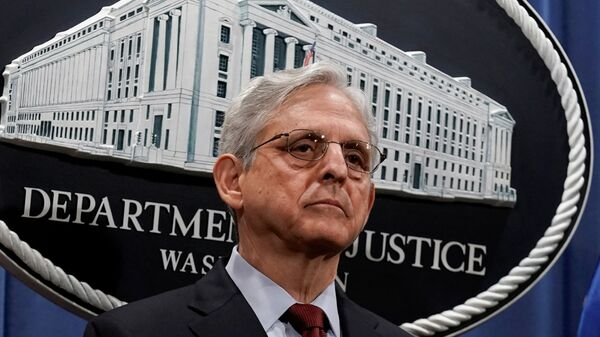 U.S. Attorney General Merrick Garland announces that the Justice Department will file a lawsuit challenging a Georgia election law, in Washington - Sputnik International