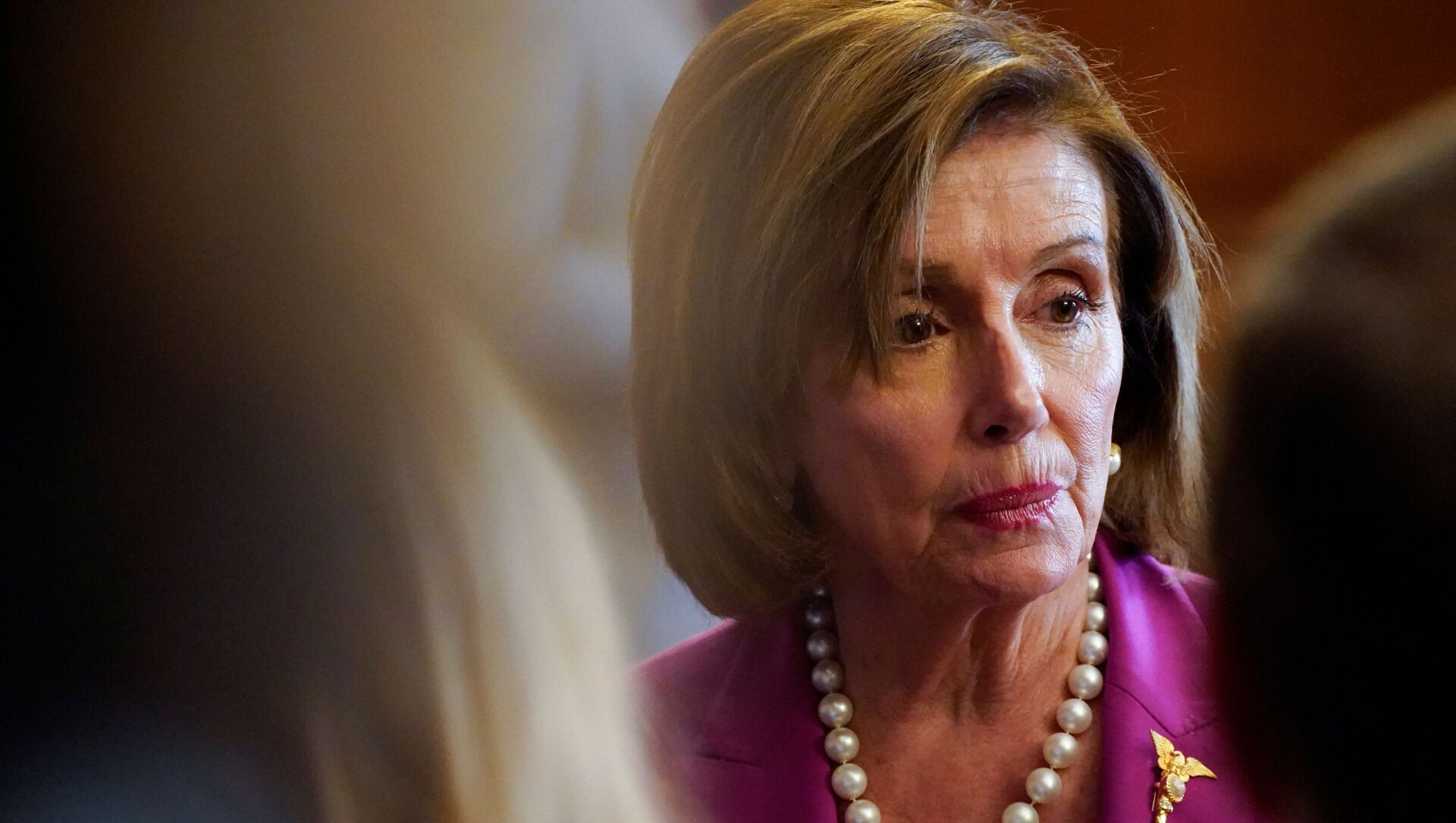 U.S. House Speaker Nancy Pelosi takes part in an enrollment ceremony for the 'VOCA Fix to Sustain the Crime Victims Fund Act of 2021' on Capitol Hill in Washington, U.S., July 21, 2021 - Sputnik International, 1920, 30.07.2021