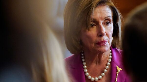 U.S. House Speaker Nancy Pelosi takes part in an enrollment ceremony for the 'VOCA Fix to Sustain the Crime Victims Fund Act of 2021' on Capitol Hill in Washington, U.S., July 21, 2021 - Sputnik International