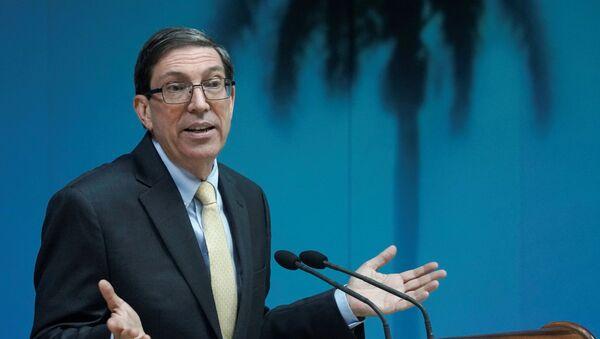 Cuba's Foreign Minister Bruno Rodriguez speaks during a news conference in Havana, Cuba, July 22, 2021. - Sputnik International