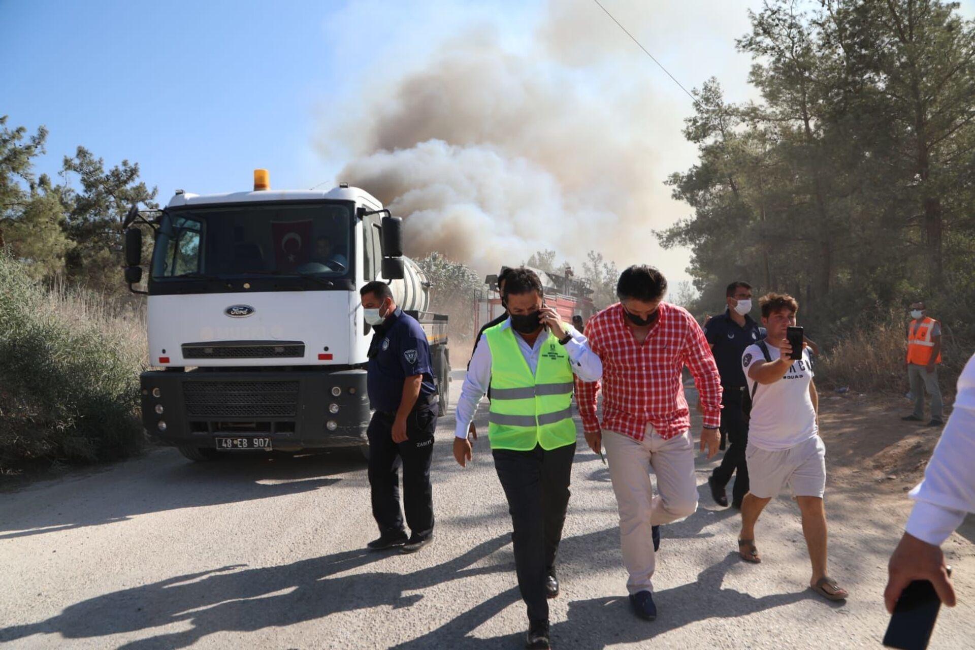 wildfire in the Turkish city of Bodrum - Sputnik International, 1920, 07.09.2021